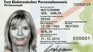 Der neue Personalausweis mit intergriertem Chip für e-Identifikation e-Signatur